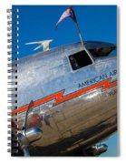 Vintage Dc-3 Airplane Spiral Notebook