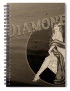 Vintage Diamon Lil B-24 Bomber Aircraft Spiral Notebook