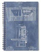 Vintage Door Lock Patent Spiral Notebook