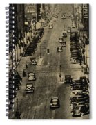 Vintage Downtown View Spiral Notebook