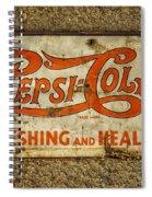 Vintage Drink Pepsi Cola 5 Cents Dsc07157 Spiral Notebook