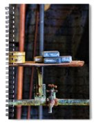Vintage Factory Sink Spiral Notebook