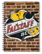 Vintage Falstaff Beer Shield Dsc07192 Spiral Notebook