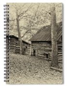 Vintage Farm Buildings Spiral Notebook