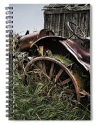 Vintage Farm Tractor Color Spiral Notebook