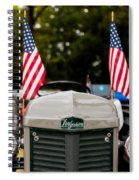 Vintage Ferguson Tractor With American Flags Spiral Notebook