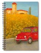 Vintage Fiat 500 Spiral Notebook