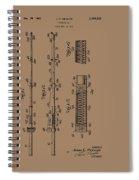Vintage Fishing Rod Patent 1942 Spiral Notebook