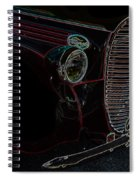 Vintage Ford Neon Art Grill Spiral Notebook