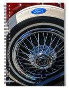 Vintage 1931 Ford Phaeton Spare Tire Spiral Notebook
