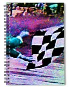 Vintage Formula 1 Race Checkered Flag  Spiral Notebook
