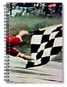 Vintage Formula Race Checkered Flag Spiral Notebook