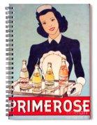 Vintage French Tin Sign Primerose Spiral Notebook