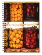 Vintage Fruit And Vegetable Preserves II Spiral Notebook