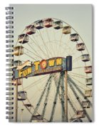 Vintage Funtown Ferris Wheel Spiral Notebook