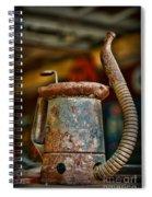 Vintage Garage Oil Can Spiral Notebook