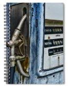 Vintage Gas Pump 2 Spiral Notebook