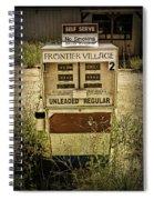 Vintage Gas Pump At An Abandoned Filling Station Spiral Notebook