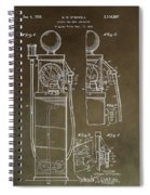 Vintage Gas Pump Patent Spiral Notebook