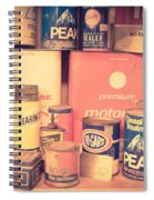 Vintage Gas Service Station Products Spiral Notebook