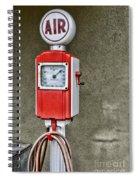 Vintage Gas Station Air Pump 2 Spiral Notebook