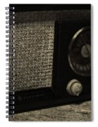 Vintage Ge Radio Spiral Notebook