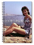 Vintage Glamour Quote Spiral Notebook