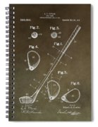 Vintage Golf Club Patent Spiral Notebook