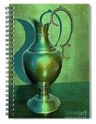Vintage Green Pewter Pitcher Spiral Notebook