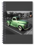 Vintage Green Chevy 3100 Truck Spiral Notebook