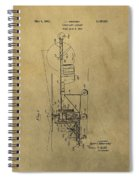 Vintage Helicopter Patent Spiral Notebook