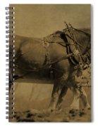Vintage Horse Plow Spiral Notebook
