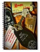 Vintage Hotel Keys Spiral Notebook
