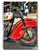 Vintage Indian Motorcycle - Live To Ride Spiral Notebook