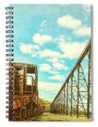 Vintage Industrial Postcard Spiral Notebook
