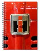 Vintage International Harvester Tractor Badge Spiral Notebook