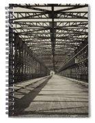 Vintage Iron Truss Bridge Spiral Notebook
