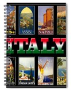 Vintage Italy Travel Posters Spiral Notebook