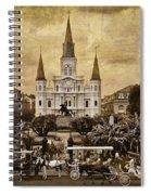 Vintage Jackson Square Spiral Notebook