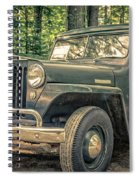Vintage Jeep Station Wagon Spiral Notebook