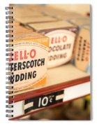 Vintage Jell-o Butterscotch Pudding Spiral Notebook