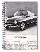 Vintage Karmann Ghia Advert Spiral Notebook