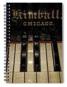 Vintage Kimball Piano Spiral Notebook