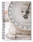 Vintage Kitchen Scale Spiral Notebook