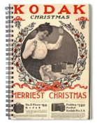 Vintage Kodak Christmas Card Spiral Notebook