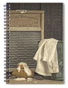 Vintage Laundry Room II By Edward M Fielding Spiral Notebook