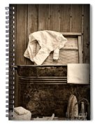 Vintage Laundry Room In Sepia	 Spiral Notebook