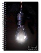 Vintage Lightbulb Spiral Notebook