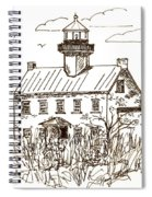 Vintage Lines Of East Point Lighthouse Spiral Notebook