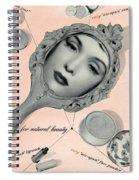 Vintage Make Up Advert Spiral Notebook